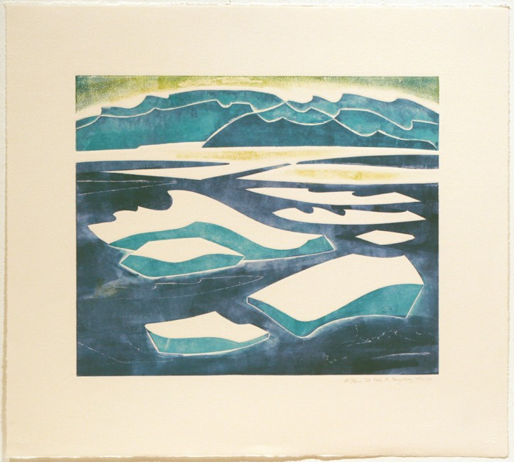 Ice Floes at Pangnirtung, Doris McCarthy, 1973-2011