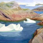 Icebergs among the Islands, Doris McCarthy, 1995
