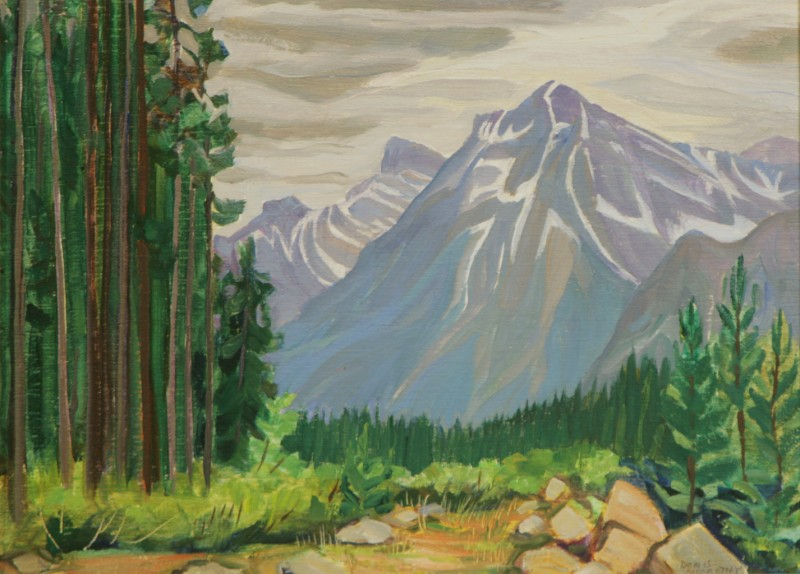 Jasper-Banff Highway, Doris McCarthy, 1977
