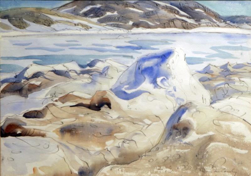 Pressure Ice, Cape Dorset, Doris McCarthy, 1973