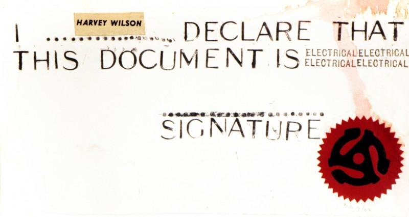 Harvey Wilson, Greg Curnoe, 1962