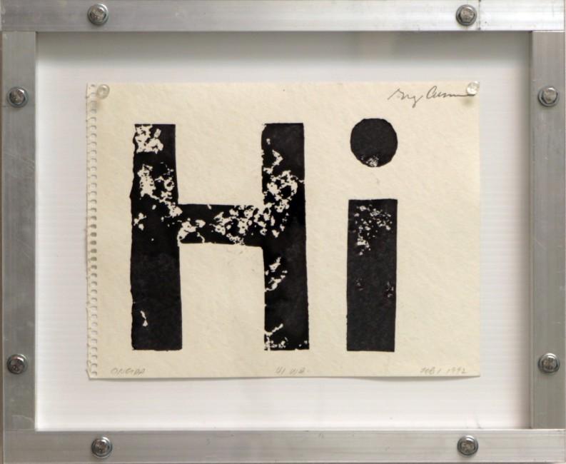 Hi (Oneida), Greg Curnoe, 1992