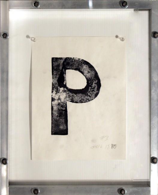 P, Greg Curnoe, 1990