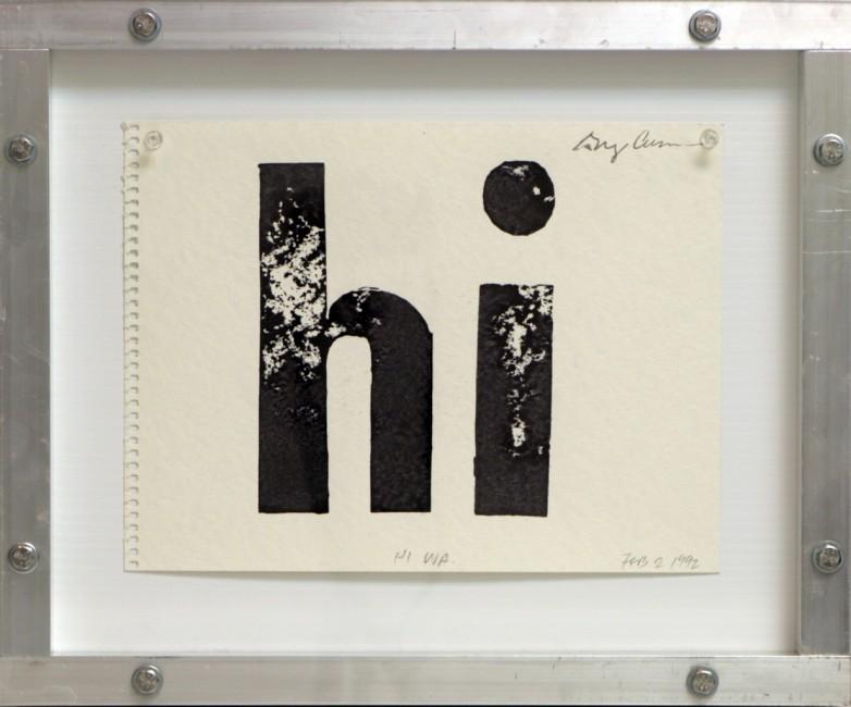 hi (Hi Wa), Greg Curnoe, 1992