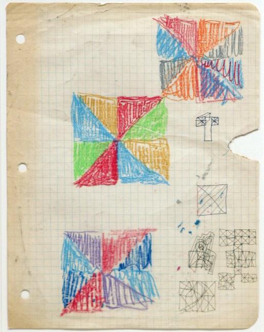Etude de coleurs - Studies for Opposition Triangular, Guido Molinari, 1971