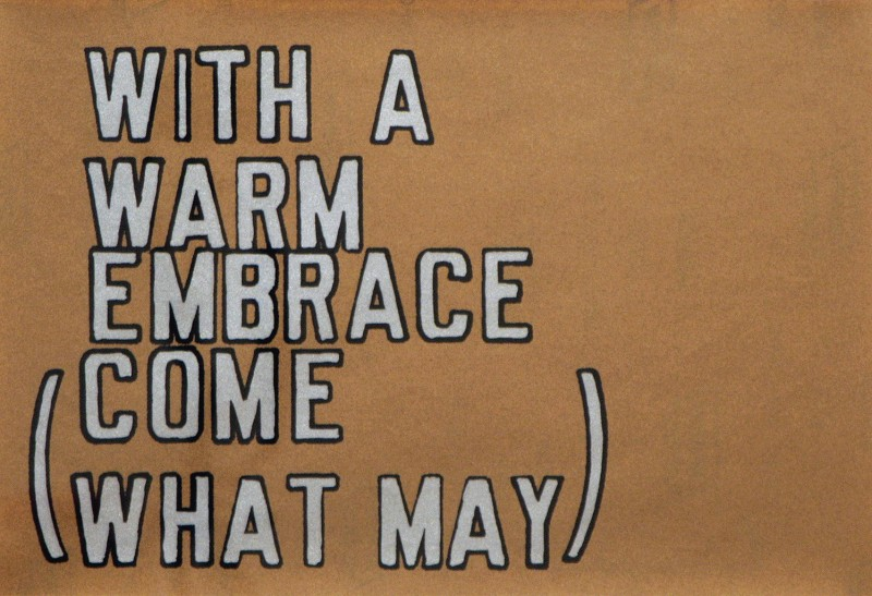 With a Warm Embrace, Lawrence Weiner, 1995