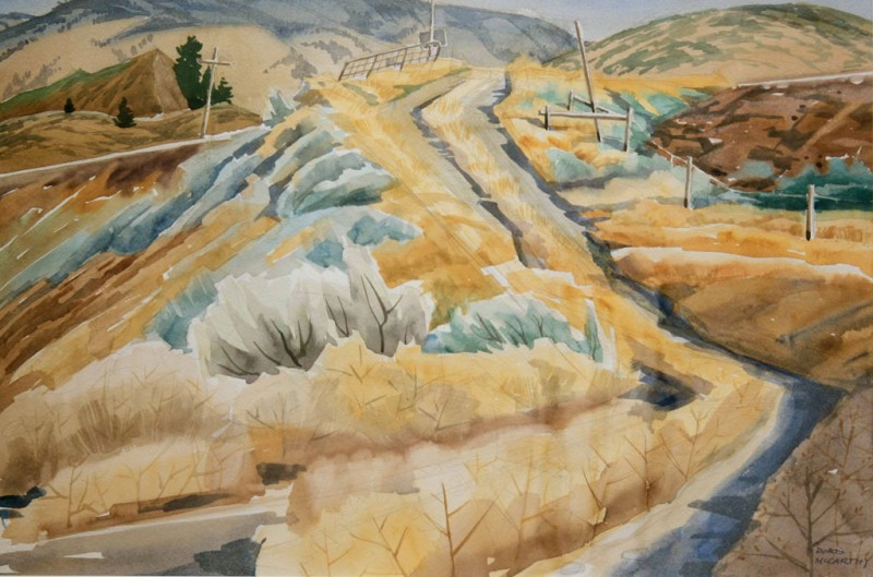 Little Road above Spotted Pond, Doris McCarthy, 1988