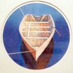 """Mary Pratt, 1980, lithograph, 15"""" diam."""