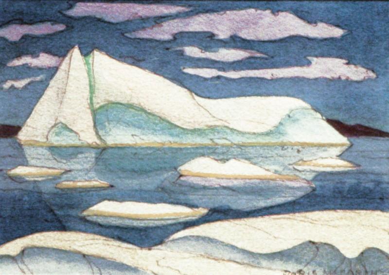 Reclining Iceberg, Doris McCarthy, 2000
