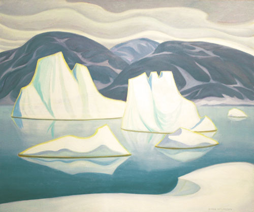 "Doris McCarthy, Icebergs and Floes, 1998, oil on canvas,30"" x 36"""