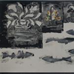 Gerald Ferguson, Tulips, Doorstops, Five Fish and a Grey Board, 1992