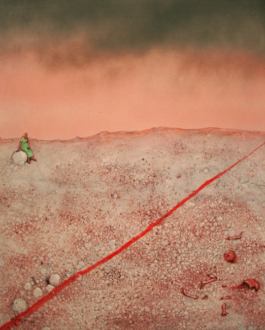 Temptation in the Desert Series, Abortion, William Kurelek, 1975