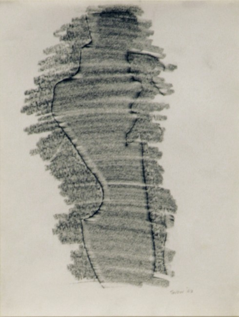 Michael Snow, Fast Figure #1, 1962, graphite on paper, 11″ x 8″
