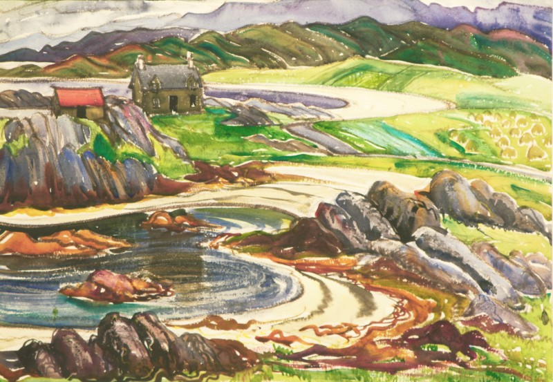 "White Sands at Morar, Doris McCarthy, 1950, watercolour, 22"" x 15"""