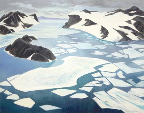 "Antarctica from the Heights, 1991, oil on canvas, 24"" x 30"""
