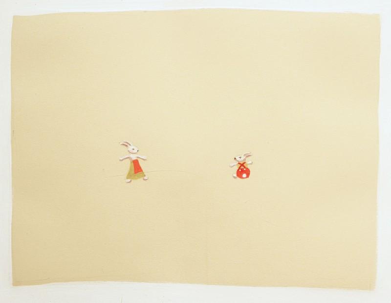 Bunnies (detail), Carol Wainio, 1998