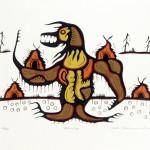 "1977, serigraph, ed. 70,  15"" x 22"""