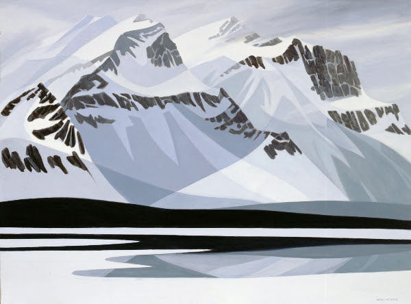 "Mountain Image #3, Doris McCarthy, 1979, oil on canvas, 40"" x 54"""