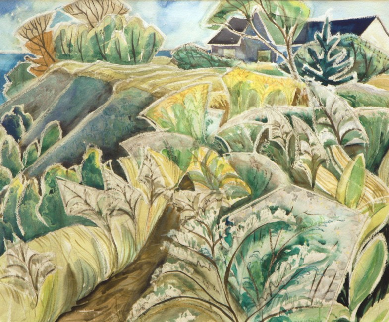 "Doris McCarthy, 1953, watercolour, 20"" x 24"""