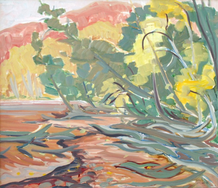 "Edge of the Lake, Haliburton, Doris McCarthy, oil on canvas, 11½"" x 13"""