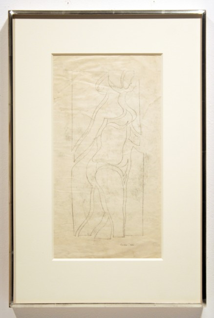 "Michael Snow,  Drawing Walking,  1962, graphite on paper, 13"" x 17"