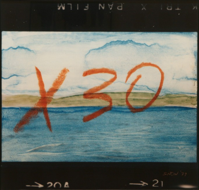 "Michael Snow,  X30,  1979, colour photograph, 44"" x 26"""