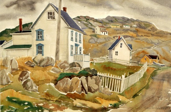 "Doris McCarthy, Paul's House at Twillingate, 1987, watercolour, 15"" x 22"""
