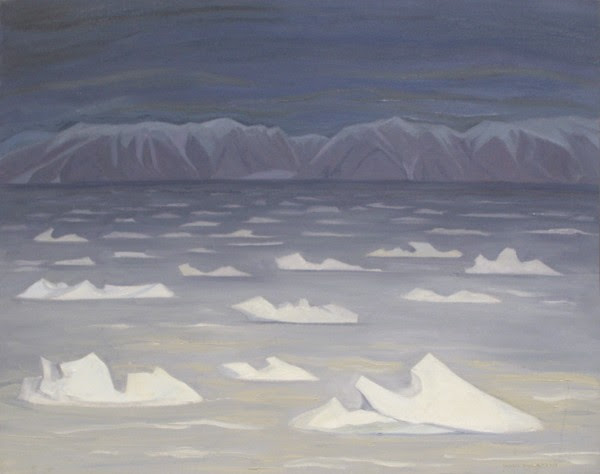 "Doris McCarthy, Arctic Light, Pond Inlet, 1992, oil on canvas, 24"" x 30"""