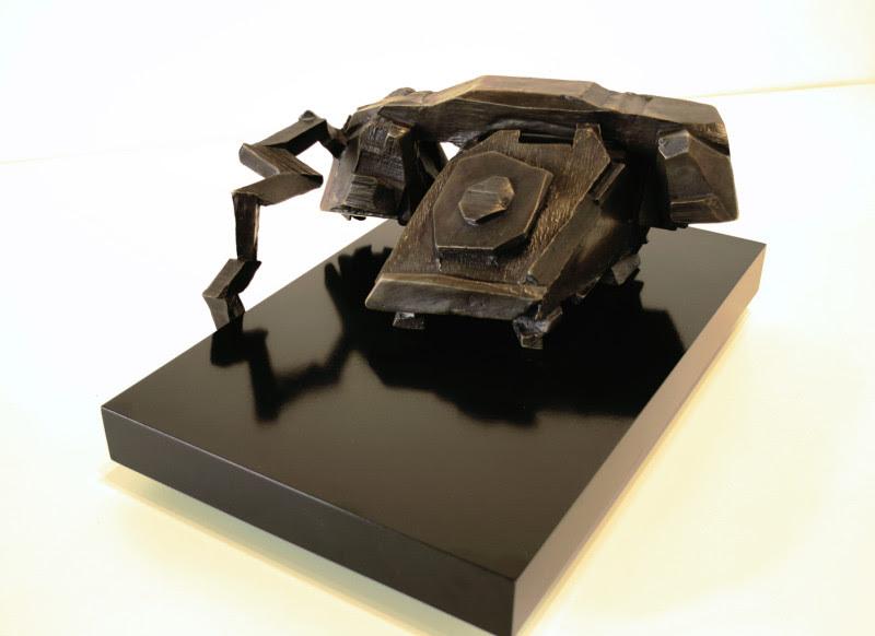 "Michael Snow, Wood Calling Bronze, 1989, bronze and wood base, 16"" x 9"" x 6"""