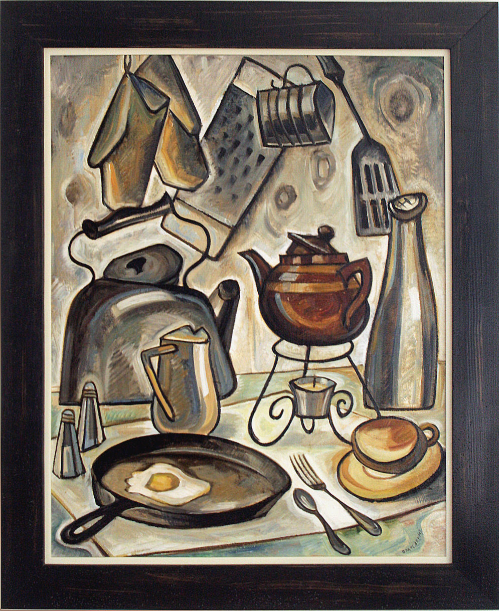 "Doris McCarthy, Kitchen at Fool's Paradise, 1954, oil on board, 30"" x 24"""