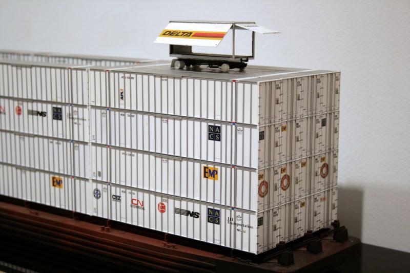 "Kim Adams, Condo Box, 2003, HO scale model parts, 9"" x 44"" x 10"""