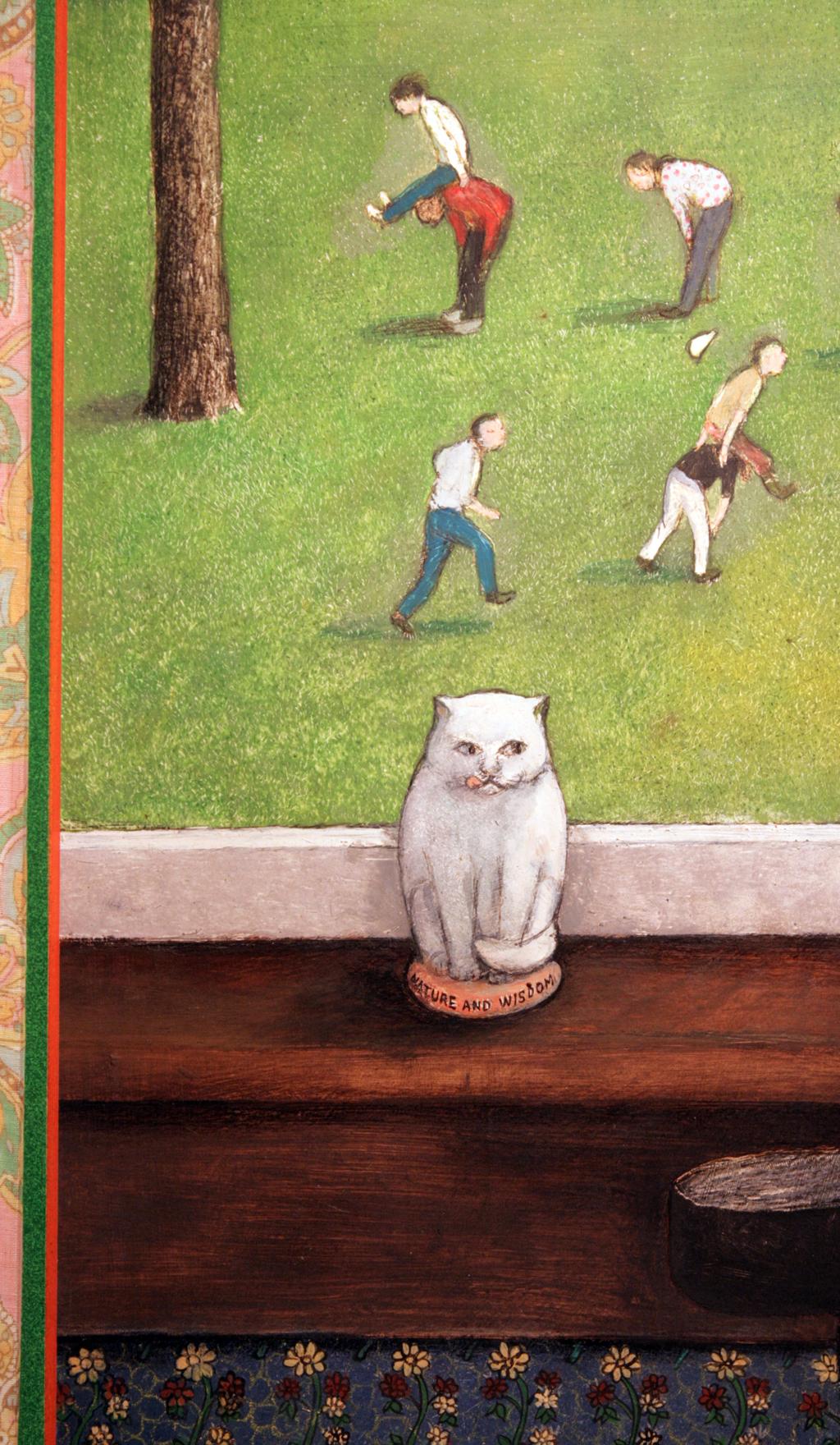 "William Kurelek, Untitled (Nature and Wisdom), c.1976, Acrylic on board, 24"" x 24"" (detail)"